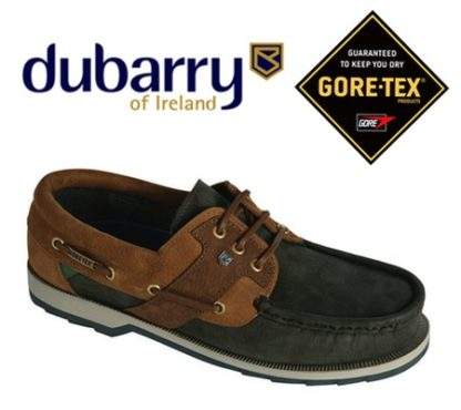 Navy Brown Gore Tex Sailing Shoes with Non-marking sole.