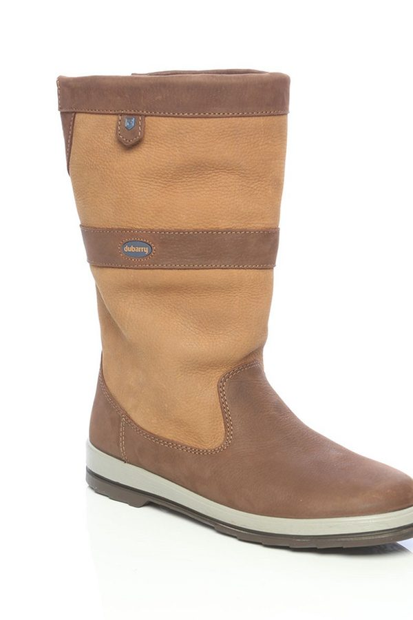Two Tone Brown Leather Sailing Boots with Waterproof Lining