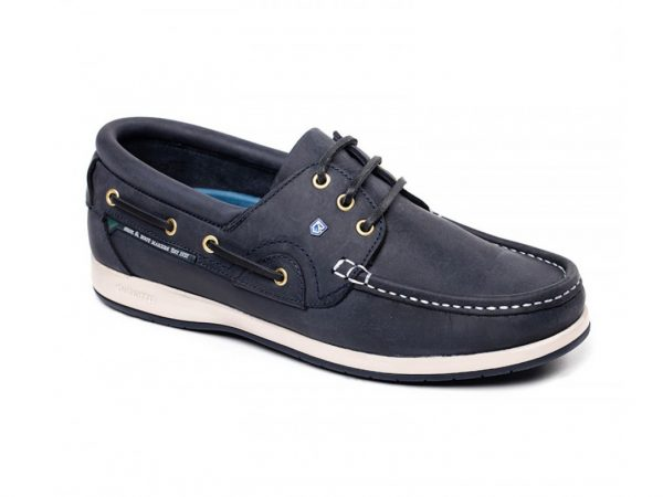 Mens brown leather boat shoes.