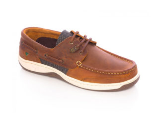 A stylish Navy & Brown Performance Boat Shoe from Dubarry Ireland