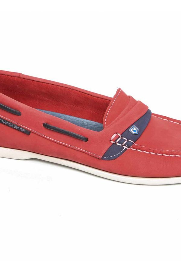 Comfortable Slip On Shoes for Women - Dubarry Hawaii Deck Shoes in Denim Colour