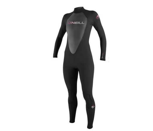 Women's black summer weight wetsuit / Reactor 3/2 Full Wetsuit Women