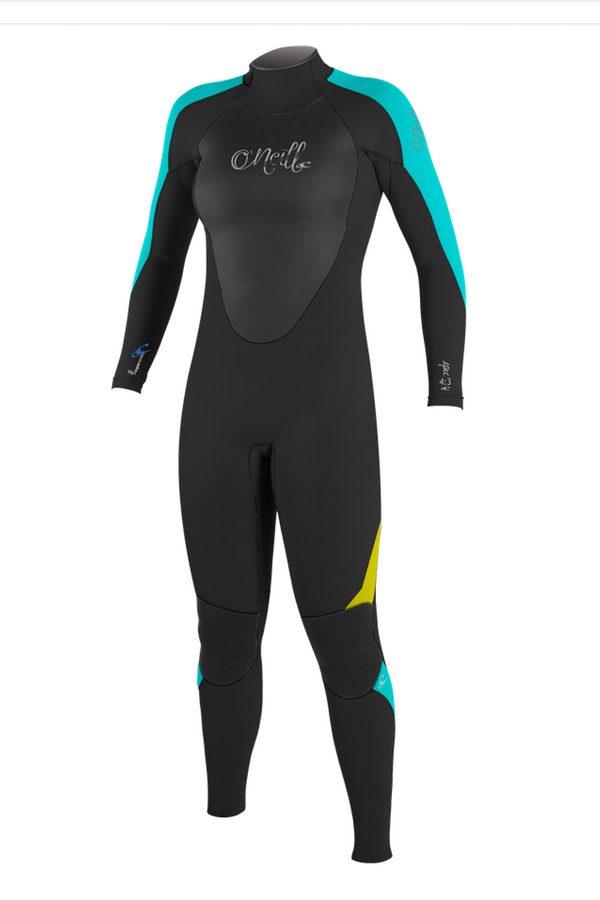 Aqua / Lunar / Deepsea warm winter wetsuit for girls & young women..