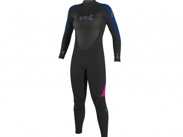 O'Neill Epic 5/4 Wetsuit - Women's Black / Navy / Berry