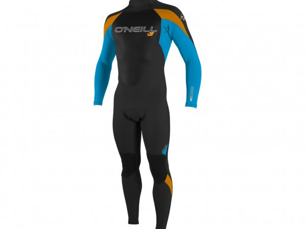 Orange, black & blue warm winter wetsuit for kids.