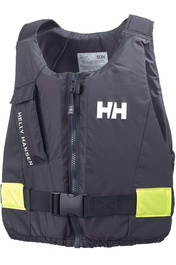 Helly Hansen Rider Vest Front Zip Easy Entry Buoyancy Aid in Ebony