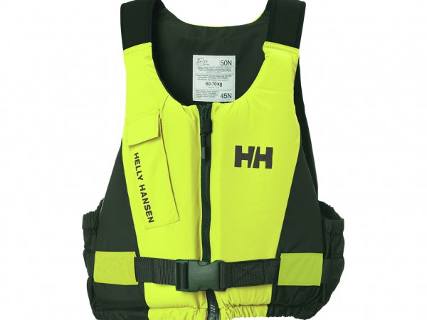Helly Hansen Rider Vest Front Zip Easy Entry Buoyancy Aid in Yellow