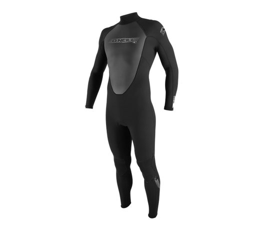 Men's black summer weight wetsuit / Reactor 3/2 Full Wetsuit Men