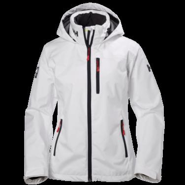 Helly Hansen W Crew Hooded Jacket White